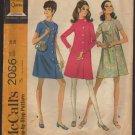 Maternity Dress Sewing Pattern McCall's 2086 Retro Mod 1960s A-line Coatdress Bust 38