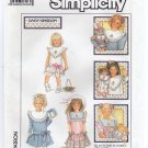 Simplicity 8594 Sewing Pattern Child's Dress Daisy Kingdom detachable collar Size 5 Chest 24 1980s