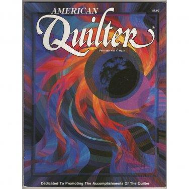 American Quilter Magazine - Fall 1989 - Vol. V, No. 3