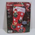 Bucilla Felt Christmas Stocking Kit Pocket Friends 84592 Never Used 2001