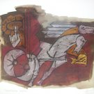 Sudharshana Chakra from Mahabharata series- M.F.Husain Signed Limited Edition Print