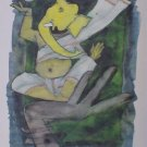 Asthavinayaka- Signed Limited edition reproduction print by M.F.Husain Indian Contemporary art