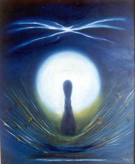 Ecstasy- oil on canvas spiritual mysticism