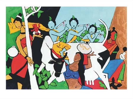 M F Husain - Chinese Horse @ Limited Editions Serigraphs