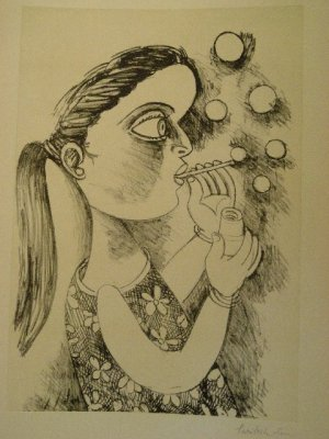 Untitled by Paritosh Sen- Signed limited edition Etching Indian Contemporary art