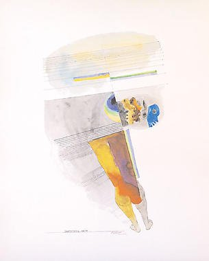 Untitled from� Passage into Human Space� Husain Signed limited edition Indian Contemporary art