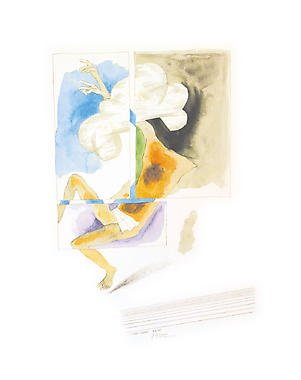 Untitled from� Passage into Human Space�Husain Signed limited edition Indian Contemporary art