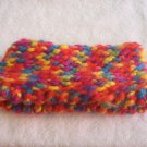 Hand-knitted kids ear sweater, rainbow