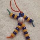 Baseball, blue and orange