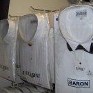 Men's Tuxedo Shirt w/Bowtie or Button, white only, poly/cotton,size 15 19