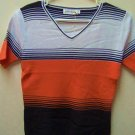 Tri-Color Pineapples brand Top for young adults,wh/orange/bk, sml,lge