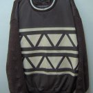 adult male black Leather pantsw/knit & leaher sweater set for men