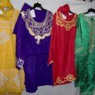 ethnic 2 & 3 pc skirt and pant sets for adult men/women,free size,gold,blue,red,green