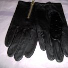 Men's driving/cycling  leather gloves with zipper or velcro fastner,s,m,l,xl, black
