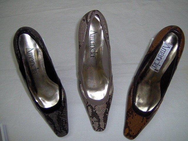 """women shoes,2"""" heel,brown,bk,taupe snake print,size 7w,7.5w,8w,8.5w9w,10w,11w,12w"""