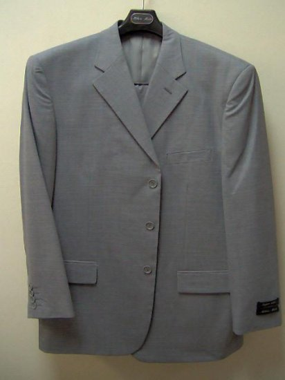 2pc suit for adult male,gray w/window pne design, 42 -
