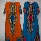 Ladies 100% cotton kaftan,s,m,l,xl,free size,bl,red,royal,orange,yellowpurple