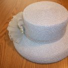 Silver metalic hat for ladies