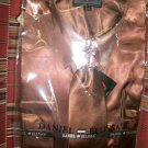 satin shirt/tie/hankie set for adult male (rust) size15.5x34/35