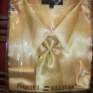 beige satin shirt/tie/hankie set for adult male by Daniell & ellissa