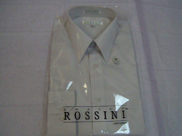 men long sleeve dress shirts, sizes 15.5 to 18.5, 34/35 sleeve length-blue,white,black,brown,peach