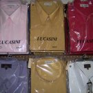 L/S pastel shirts for adult male,60% cotton,40% poly, size16 - 18.5 x 34/35 sleeve,Lucasini brand