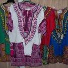 unisex dashiki in several sizes & colors, 100% cotton, small to king size ( 3xxx)