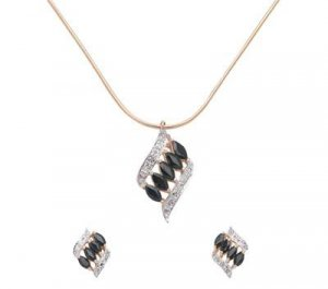 Sapphire And Diamond Pendant And Earring Set  -  Retail  $405.95