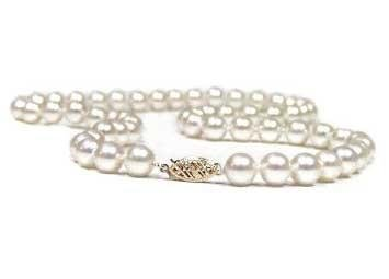 """14 Kt White 18"""" Cultured Pearl Strand  -  Retail  $489.00"""