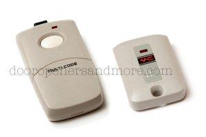Multi Code 3089 & 3070 Garage Door Gate Remote Combo - 300 Mhz