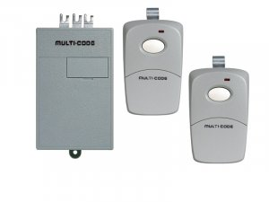 Multi Code Garage Door Opener Remote Replacement Kit: (2) 3089 Remote & (1) 1090 Receiver 300 MHz