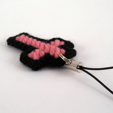 Cross Charm Pink and Black
