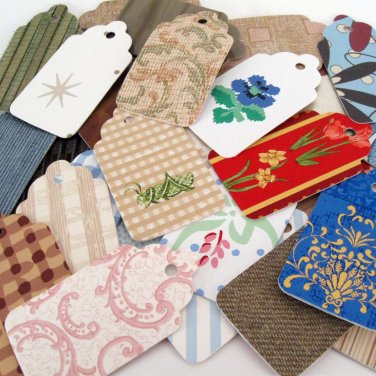 12 Gift Tags Recycled Wallpaper Wall Coverings