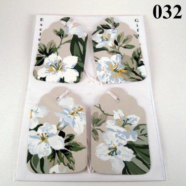 Handmade Flower Gift Tag Set
