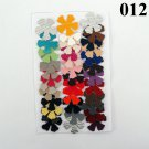 Vinyl Die Cut Flowers 5 petal assorted colors textures