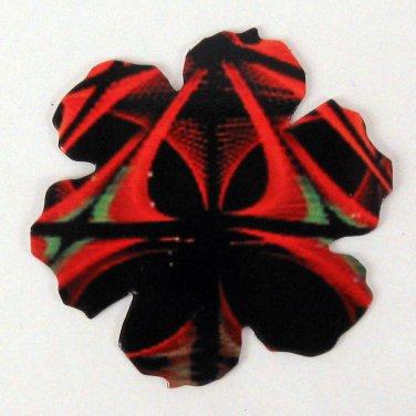 Black Red Bold Flower Die Cut