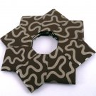 Origami Wreath Brown Gold Ribbon Wallpaper Ornament