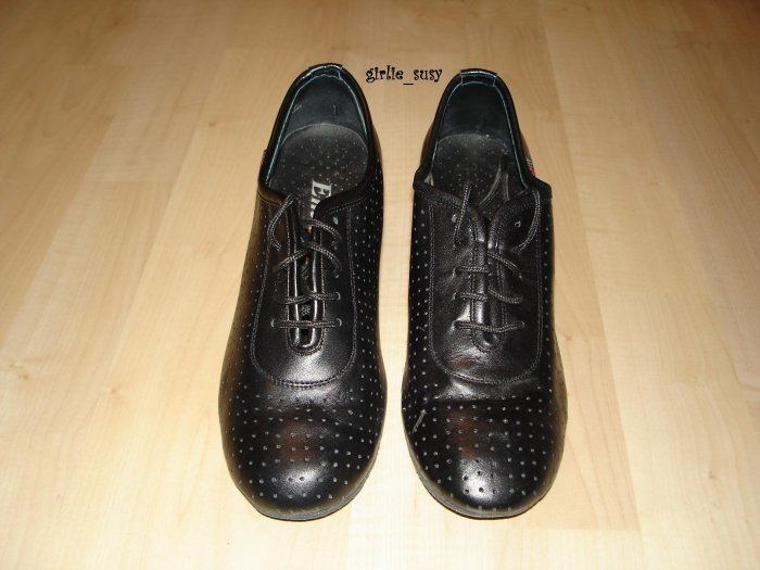 Ballroom Latin Line Dancing Shoes Black Size US 7 *PLUS BONUS CASH BACK!*