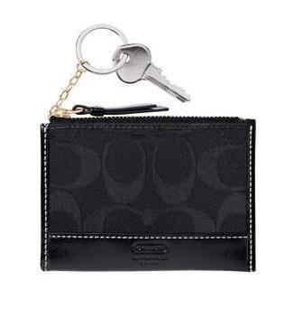 Coach Hamptons Signature Mini Skinny Wallet NWT Black *PLUS BONUS CASH BACK!*