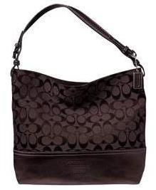 COACH Signature Shoulder Tote Purse Bag NWT Dark Brown