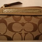 COACH Signature Beaded Mini Skinny Wallet NWT Khaki/Camel *LIMITED EDITION*PLUS BONUS CASH BACK!*