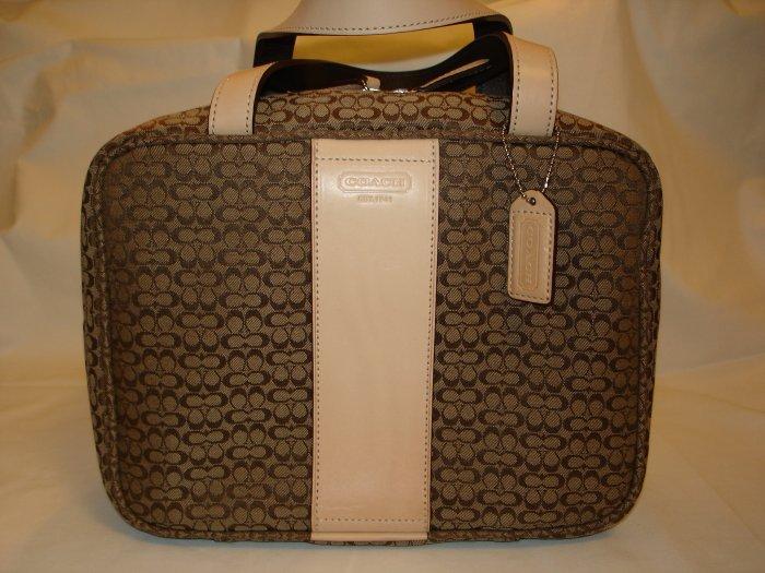 COACH Signature Double Handle Cosmetic Case Bag NWT *PLUS BONUS CASH BACK!*