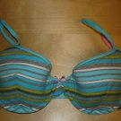 Victoria's Secret PINK Lined Cotton Demi Bra 36B NWOT Blue Stripes