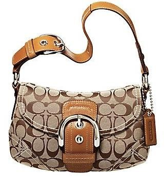 Coach Soho Signature Small Flap Purse Handbag NWT Khaki/Camel #11860 *PLUS BONUS CASH BACK!*