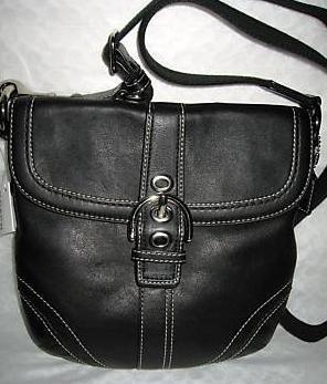 Coach Soho Swing Pack Purse Handbag NWT Silver/Black #41511 *PLUS BONUS CASH BACK!*