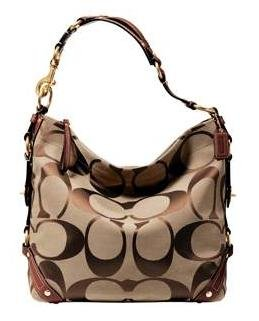 Coach Large Carly Signature Purse Handbag NWT Brass/Khaki/Saddle #10620 *PLUS BONUS CASH BACK!*