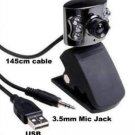 5.0 Megapixel Webcam With Microphone + LED Lights For PC Laptops