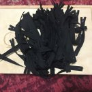 "Lot Of 158 Black 8"" Nylon Closed End Ykk Zippers"