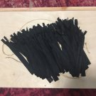 """100 Pcs Black 7"""" Invisible Concealed Nylon Closed End Zippers"""