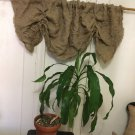 Natural Burlap French Country Cottage Shabby Chic Wrinkled Valance